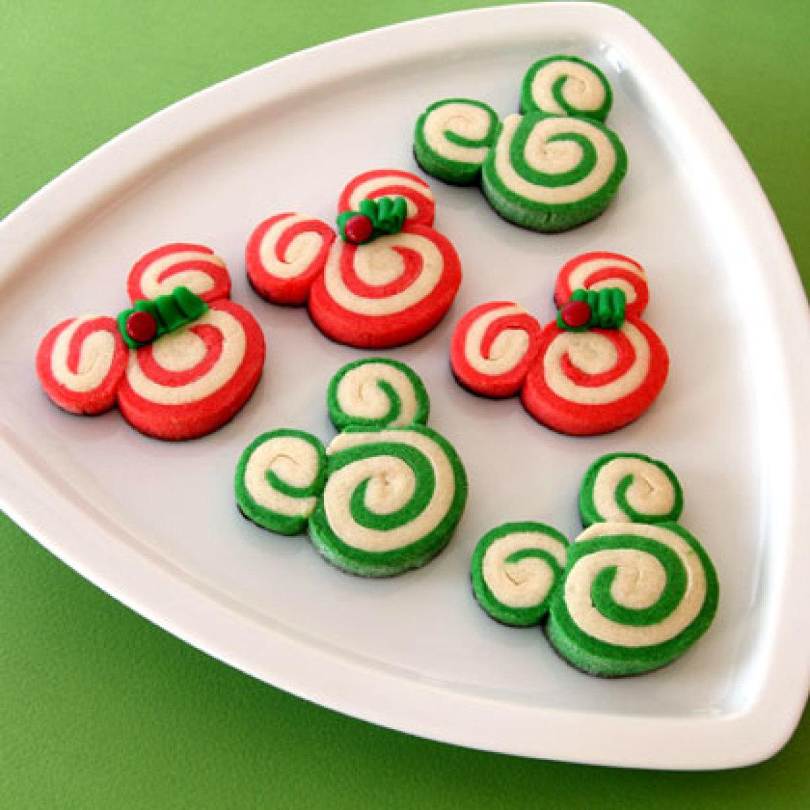 Mickey amp minnie peppermint swirl cookies recipe just a pinch recipes
