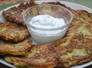 Greek Style Zucchini Fritters with Feta Recipe