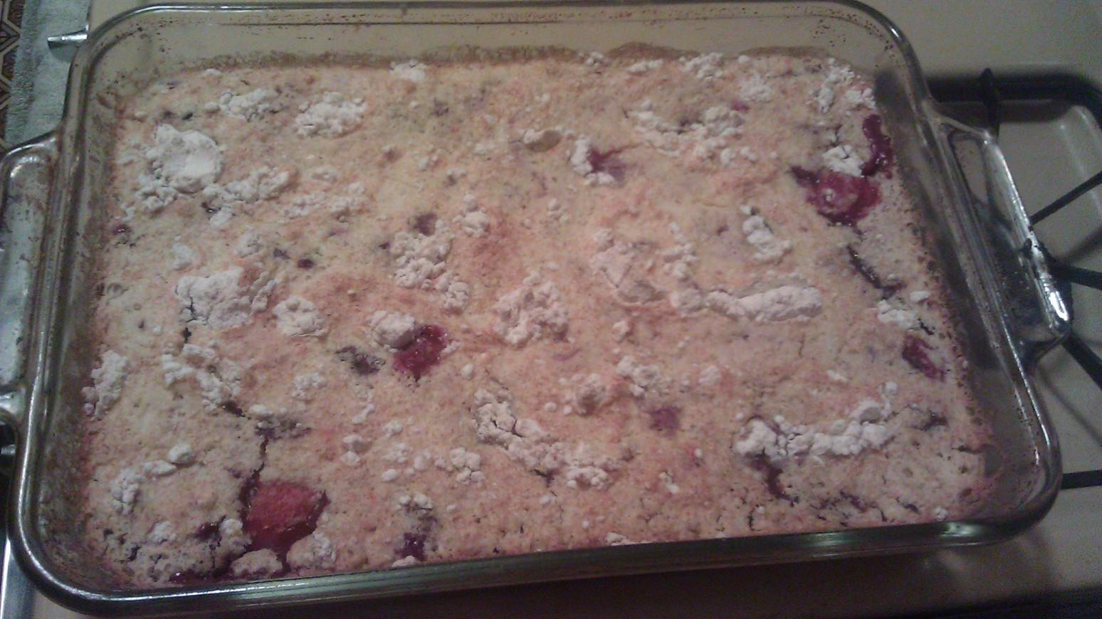 Summertime Berry Dump Cake Recipe