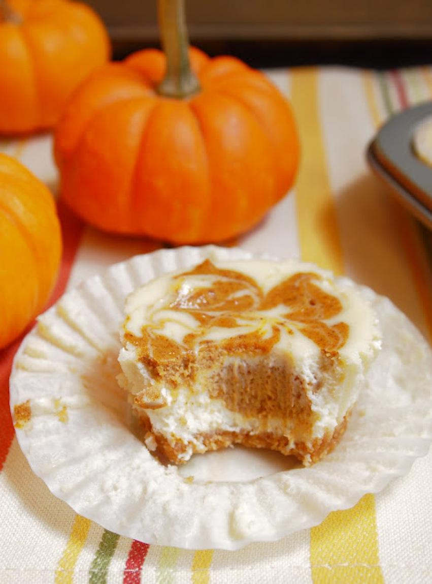 Pumpkin Swirl Cheesecake Cupcakes Recipe