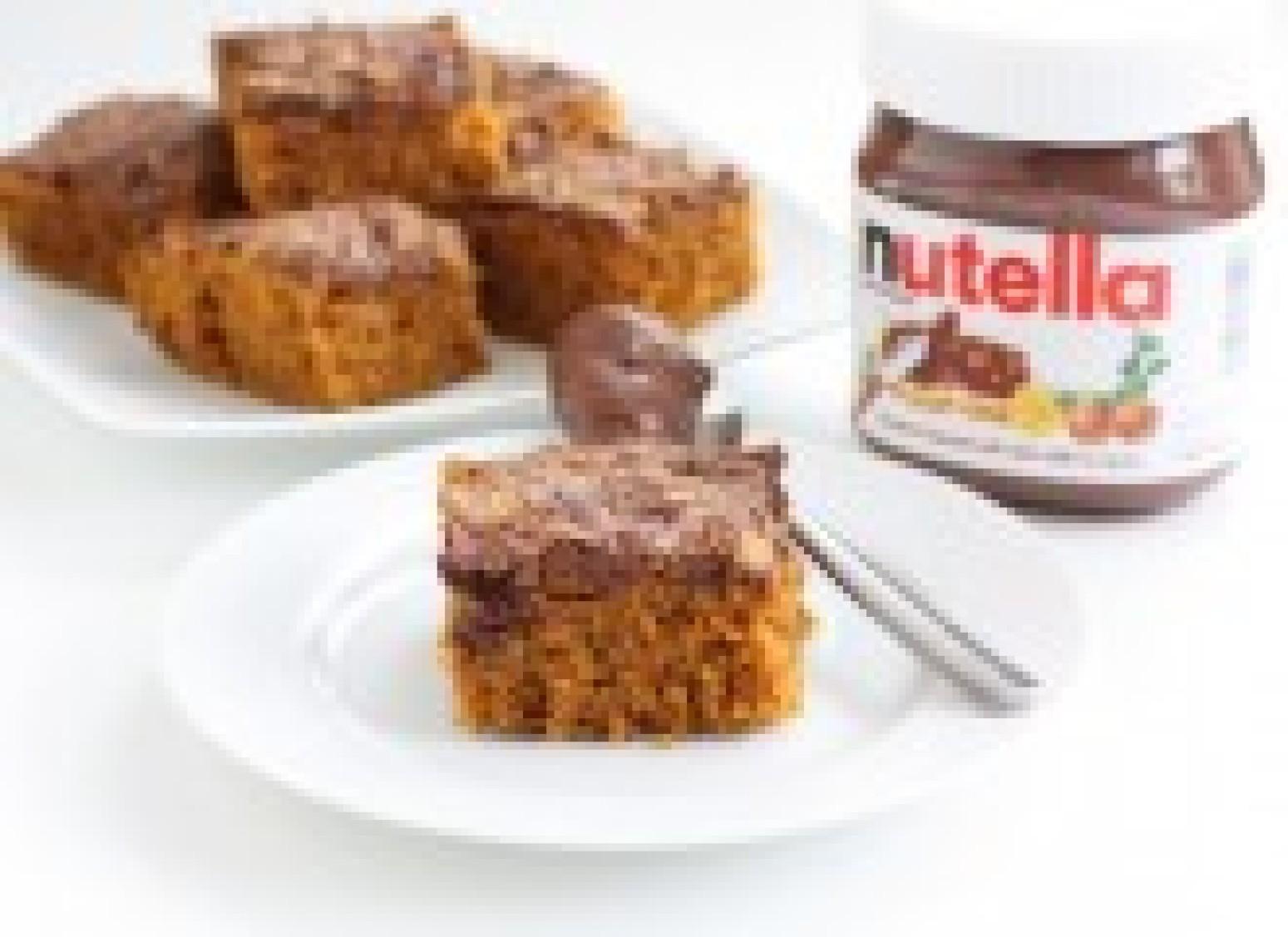 Pumpkin Nutella Snack Cake Recipe | Just A Pinch Recipes