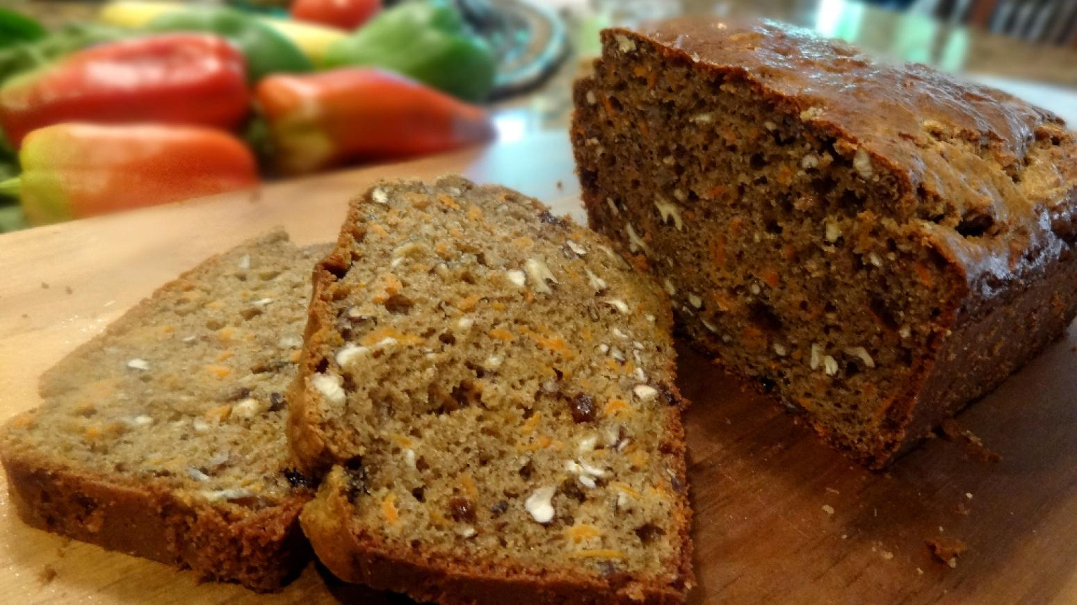 NUTTY CINNAMON CARROT BREAD, LOW CARB--BONNIE'S Recipe ...