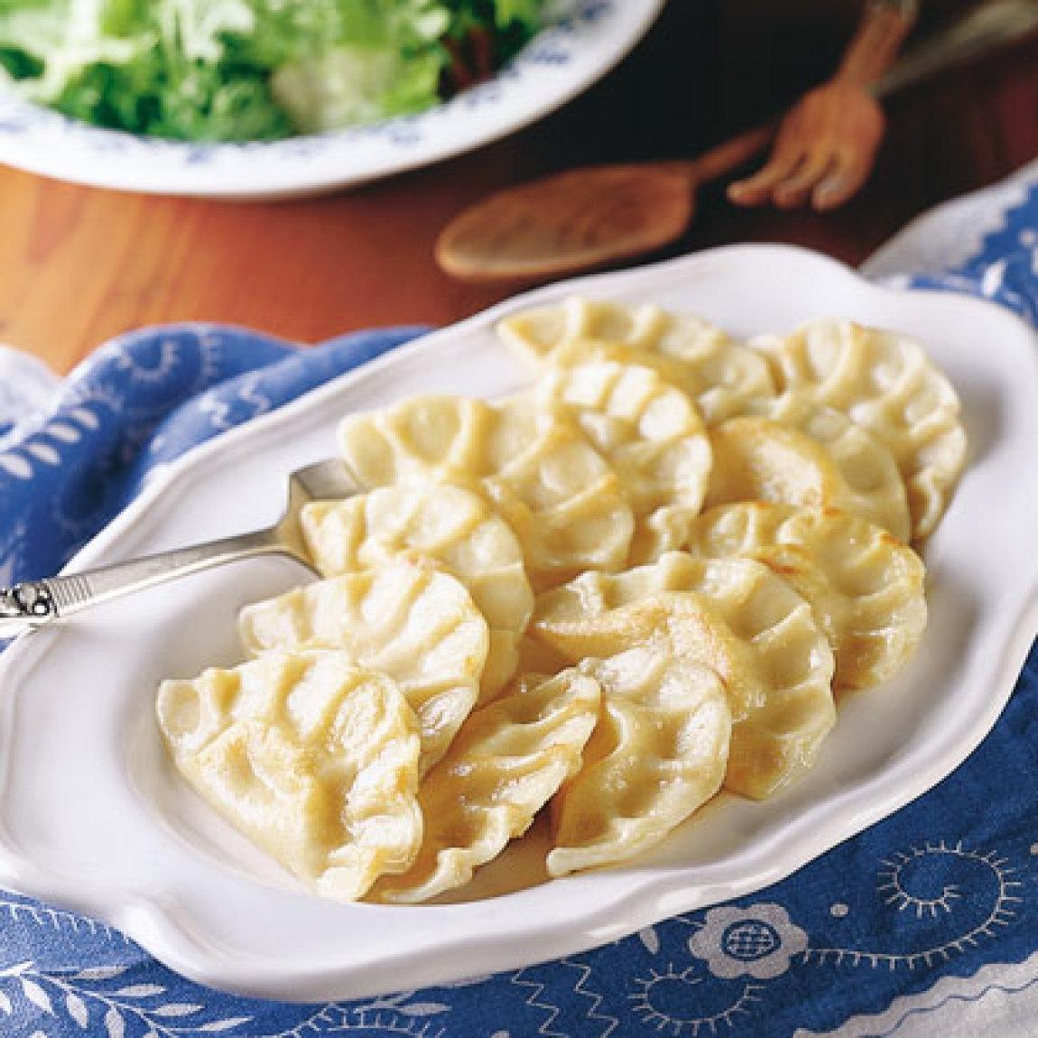 Grandma Urbanski's Potato Pierogi Recipe | Just A Pinch Recipes