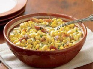 CREAMED SWEET CORN WITH BACON