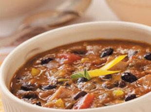 Black Bean and Pumpkin Chili -Slow Cooker Recipe