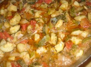 Mexican Zucchini or Yellow Neck Squash, Calabasitas Guisadas
