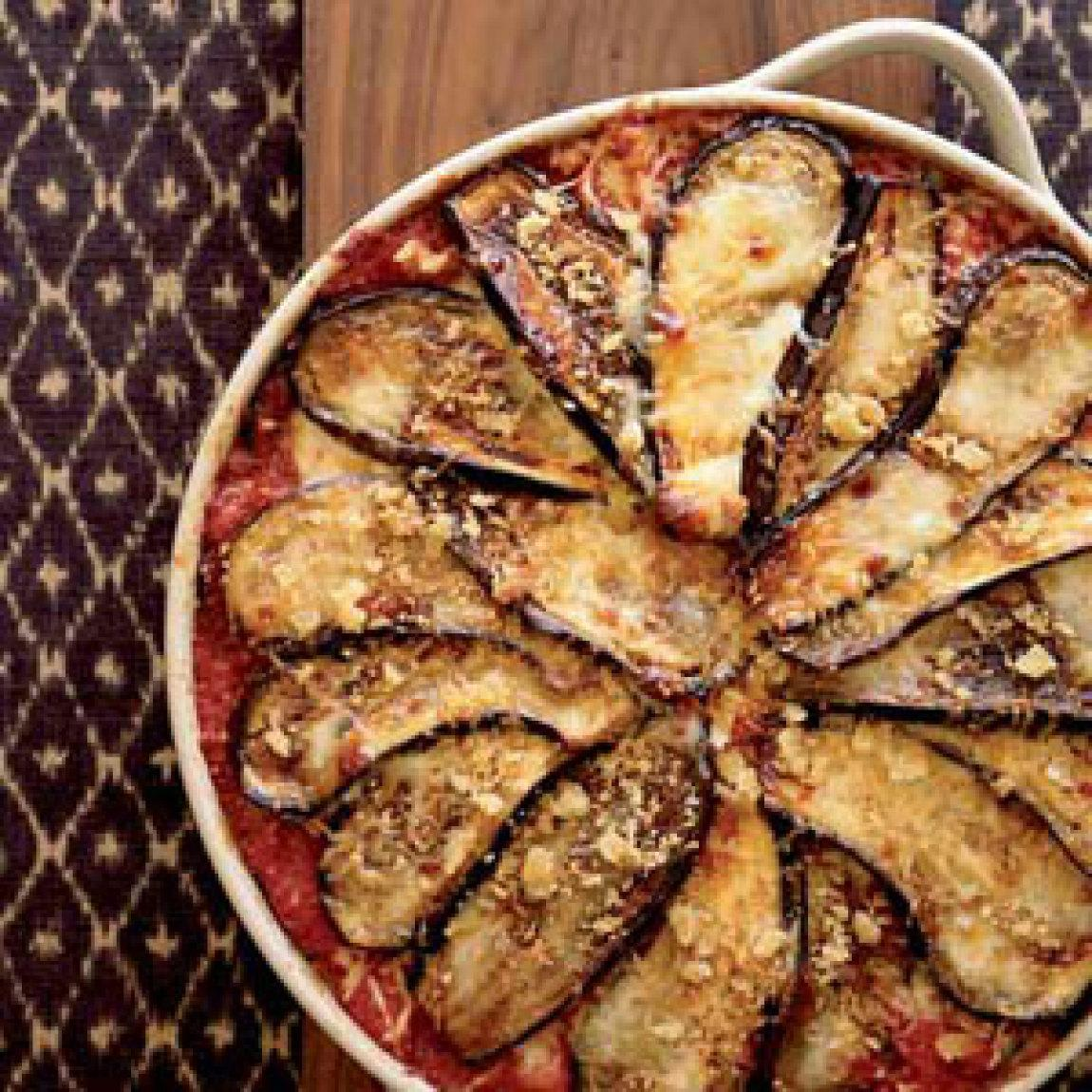 Eggplant Parmesan with Crisp Bread Crumb Topping Recipe | Just A Pinch ...