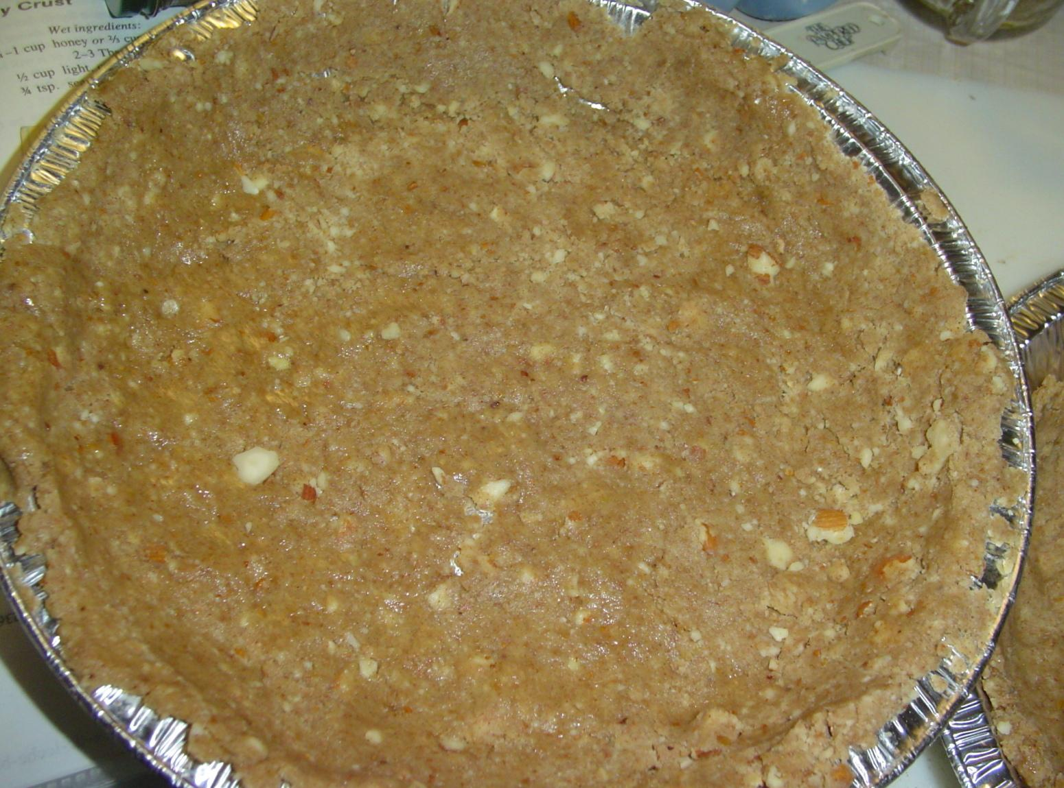 Gluten Free Nutty Pie Crust! Recipe