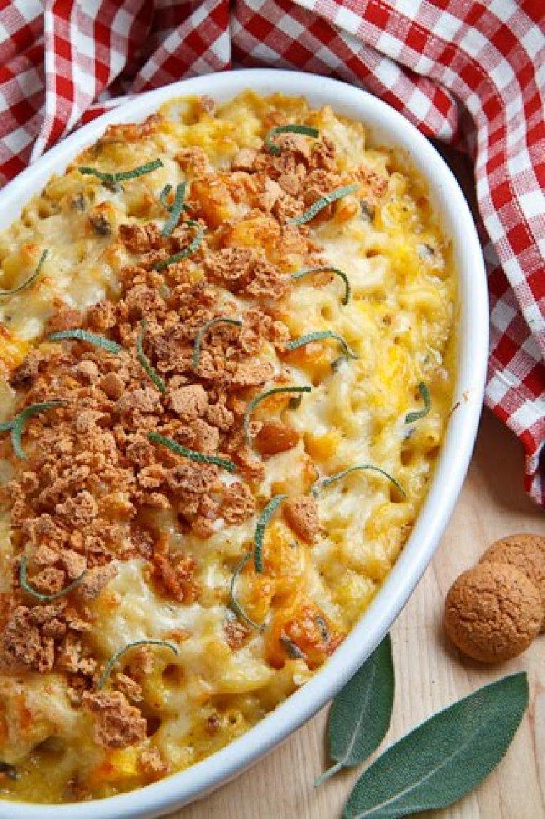 Pumpkin Mac n Cheese with Amaretti Crust Recipe | Just A Pinch Recipes