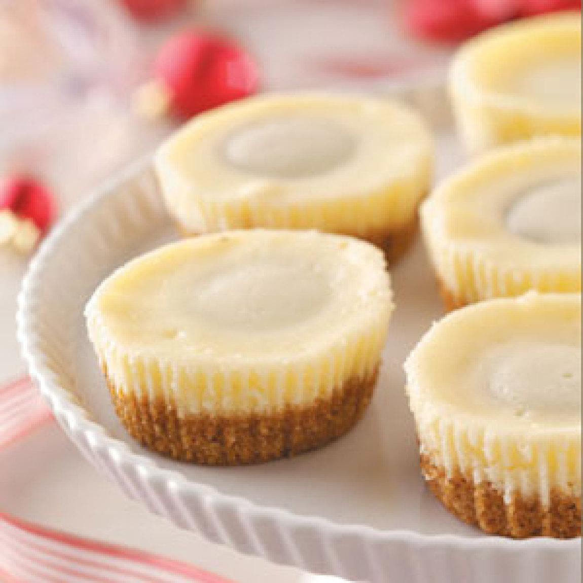 how to make miniature cheesecakes