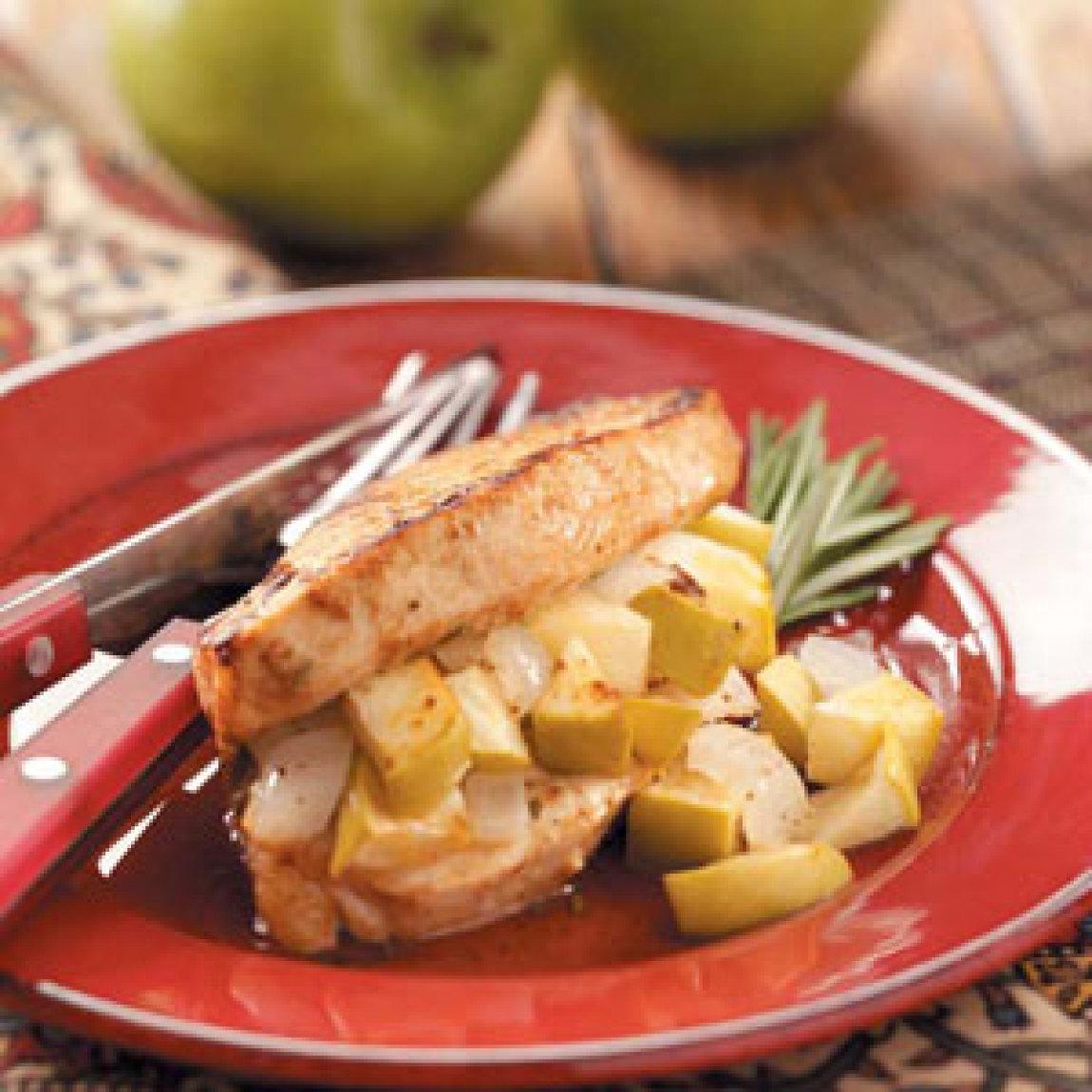 Stuffed Apple Pork Chops Recipe | Just A Pinch Recipes