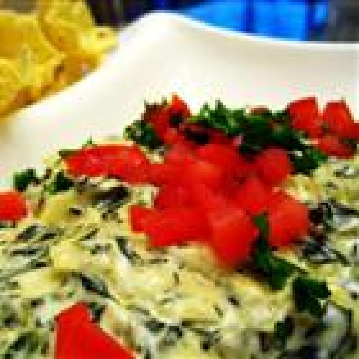 Artichoke & Spinach Dip Restaurant Style Recipe | Just A Pinch Recipes