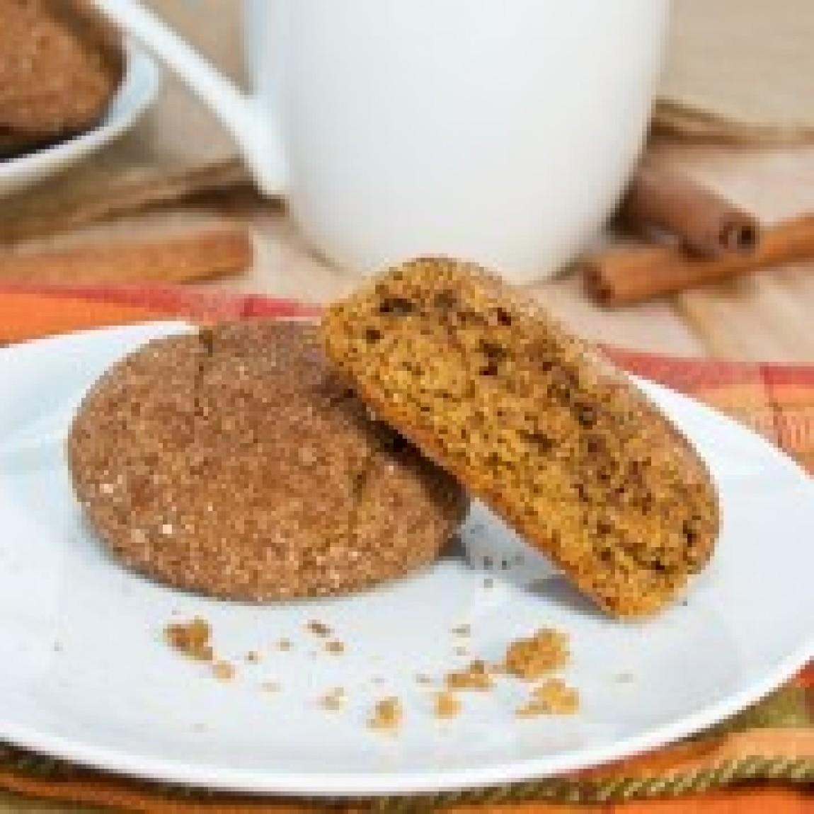 Pumpkin Gingersnap Cookies Recipe 2 | Just A Pinch Recipes