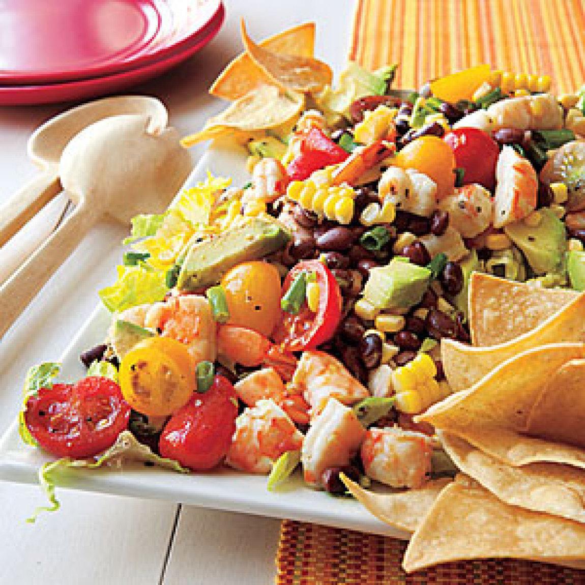 Black Bean Corn and Shrimp Salad Recipe | Just A Pinch Recipes