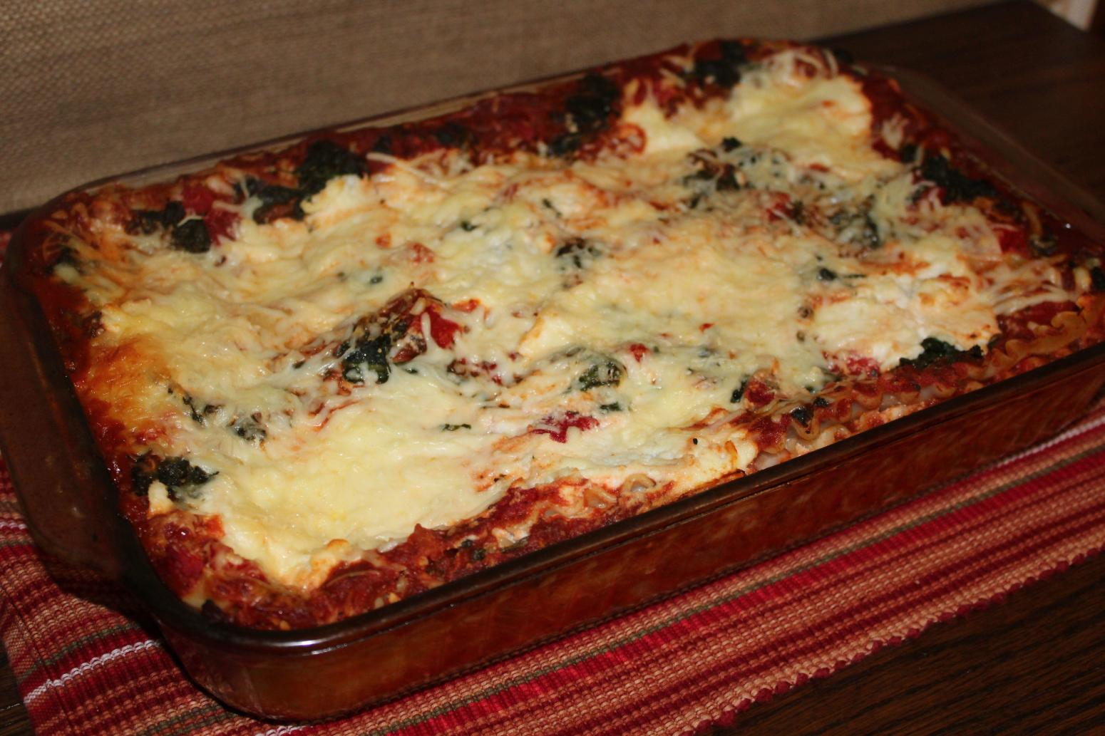 Roasted Red Pepper & Spinach Lasagna Recipe | Just A Pinch Recipes