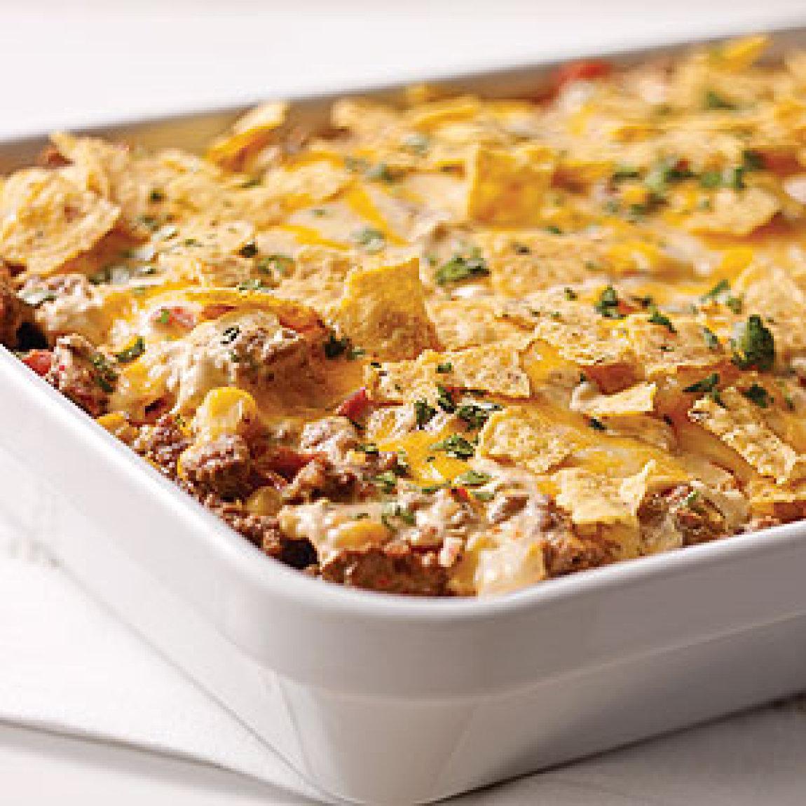 Tex-Mex Beef & Rice Casserole Recipe | Just A Pinch Recipes
