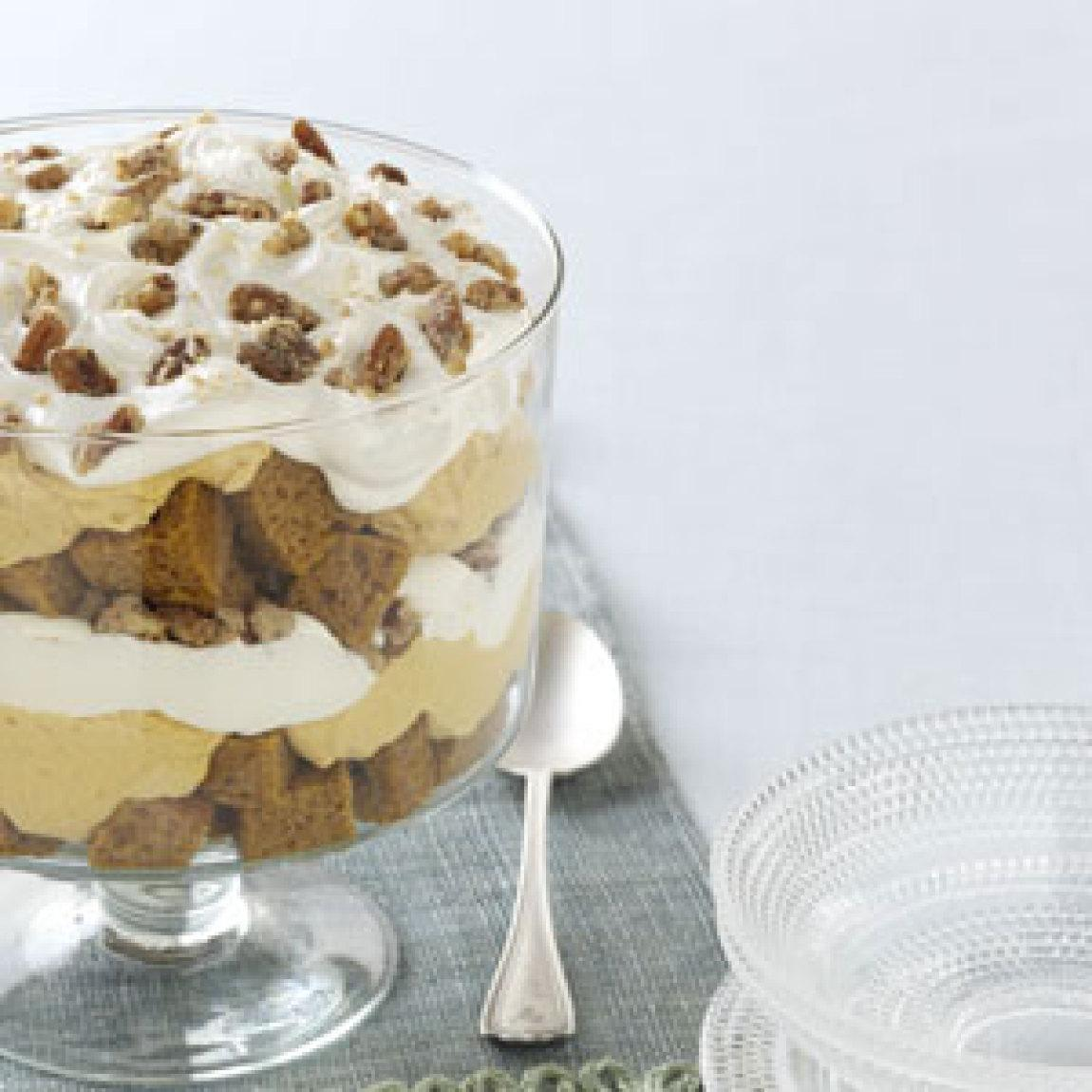 Pumpkin Mousse Trifle Recipe | Just A Pinch Recipes