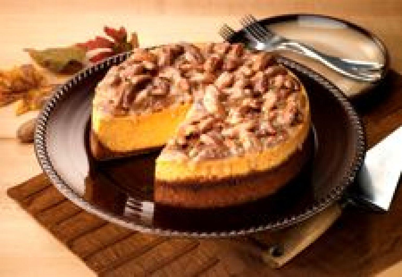 Praline Pumpkin Cheesecake Recipe | Just A Pinch Recipes