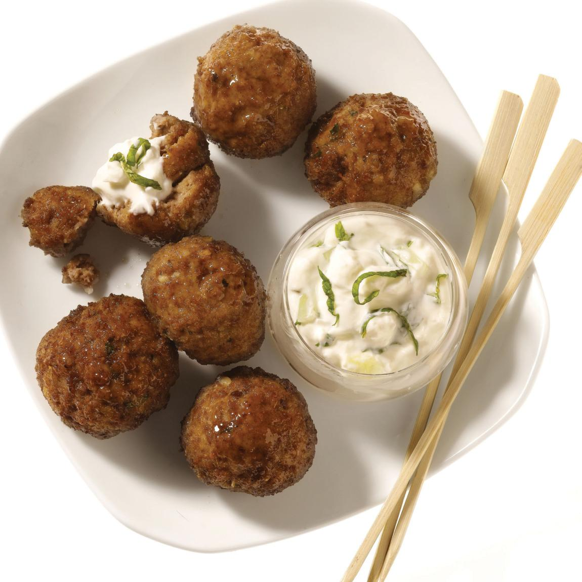 Greek Meatballs with Tzatziki Recipe | Just A Pinch Recipes