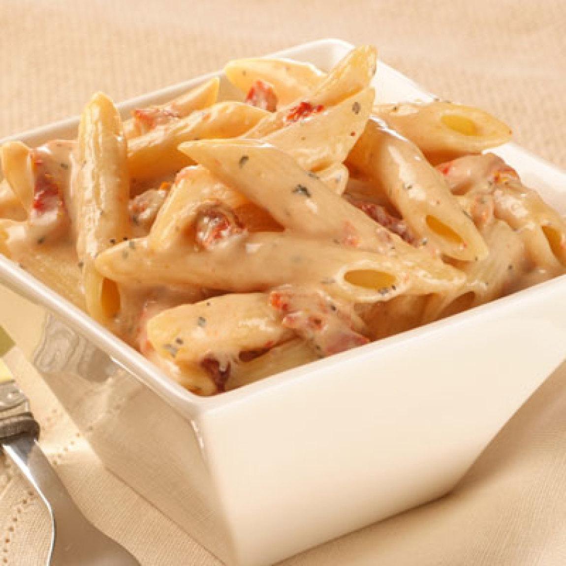 Penne Pasta with Sun-dried Tomato Cream Sauce Recipe ...