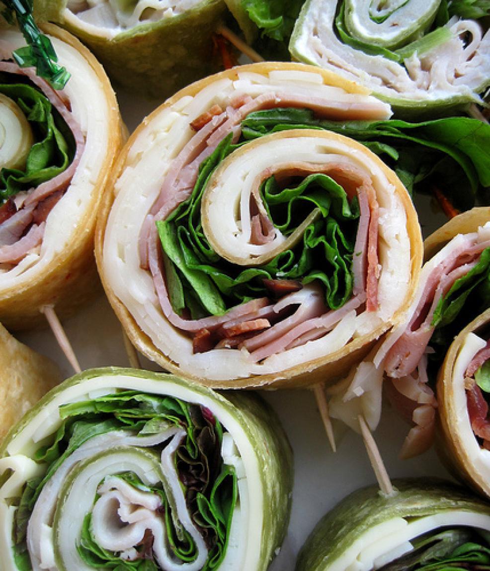 Rainbow Pinwheel Sandwiches Recipe
