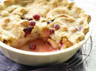 DEEP-DISH PEAR/CRANBERRY PIE Recipe