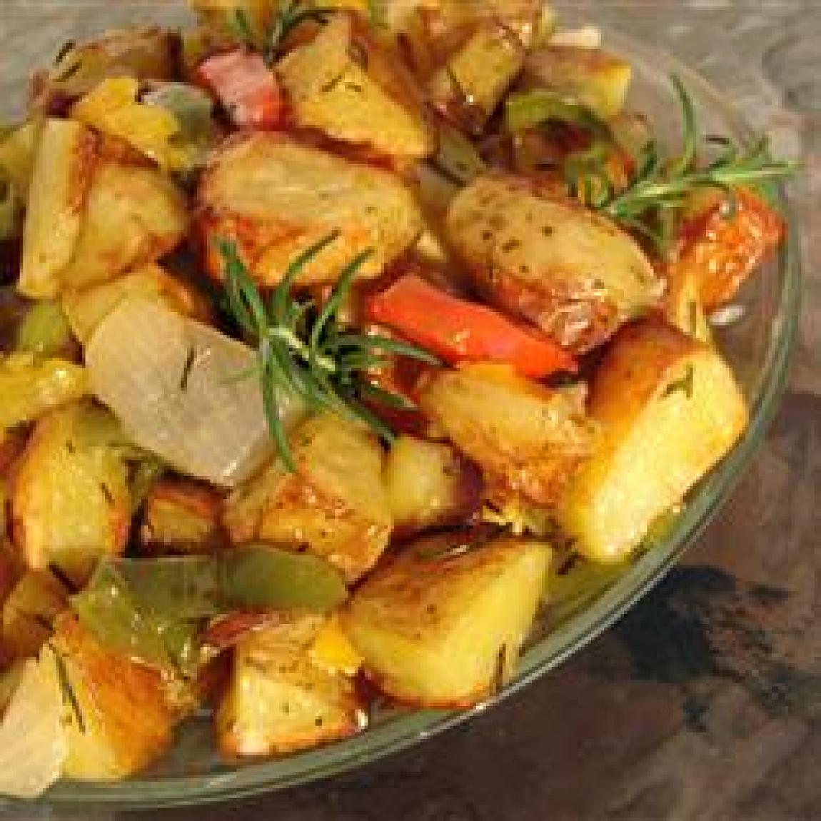 Early Morning Oven Roasted New Potatoes Recipe | Just A Pinch Recipes