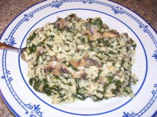 Risotto with Spinach and Mushrooms Recipe