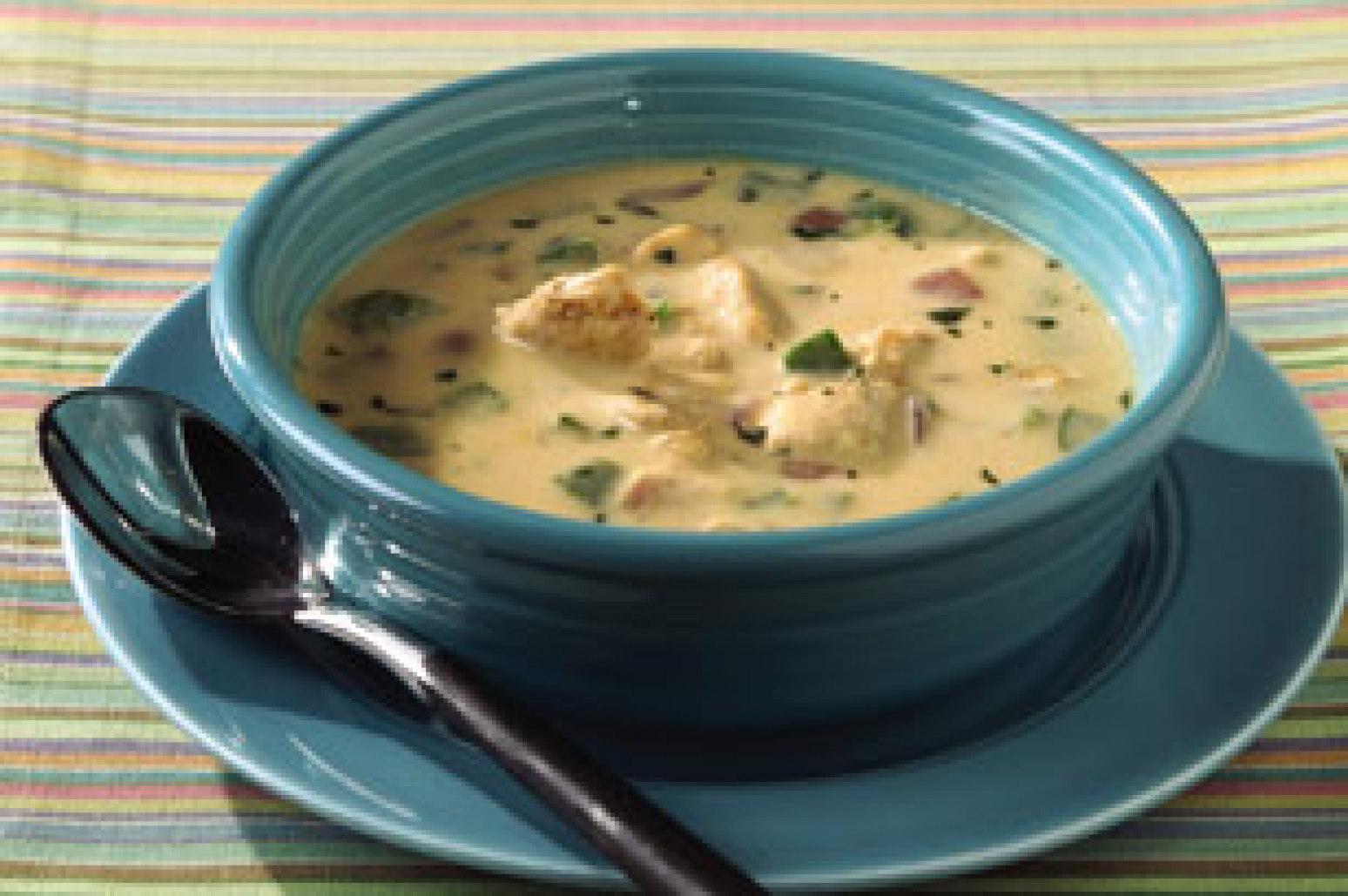 Santa Fe Chicken Fajita Soup Recipe | Just A Pinch Recipes