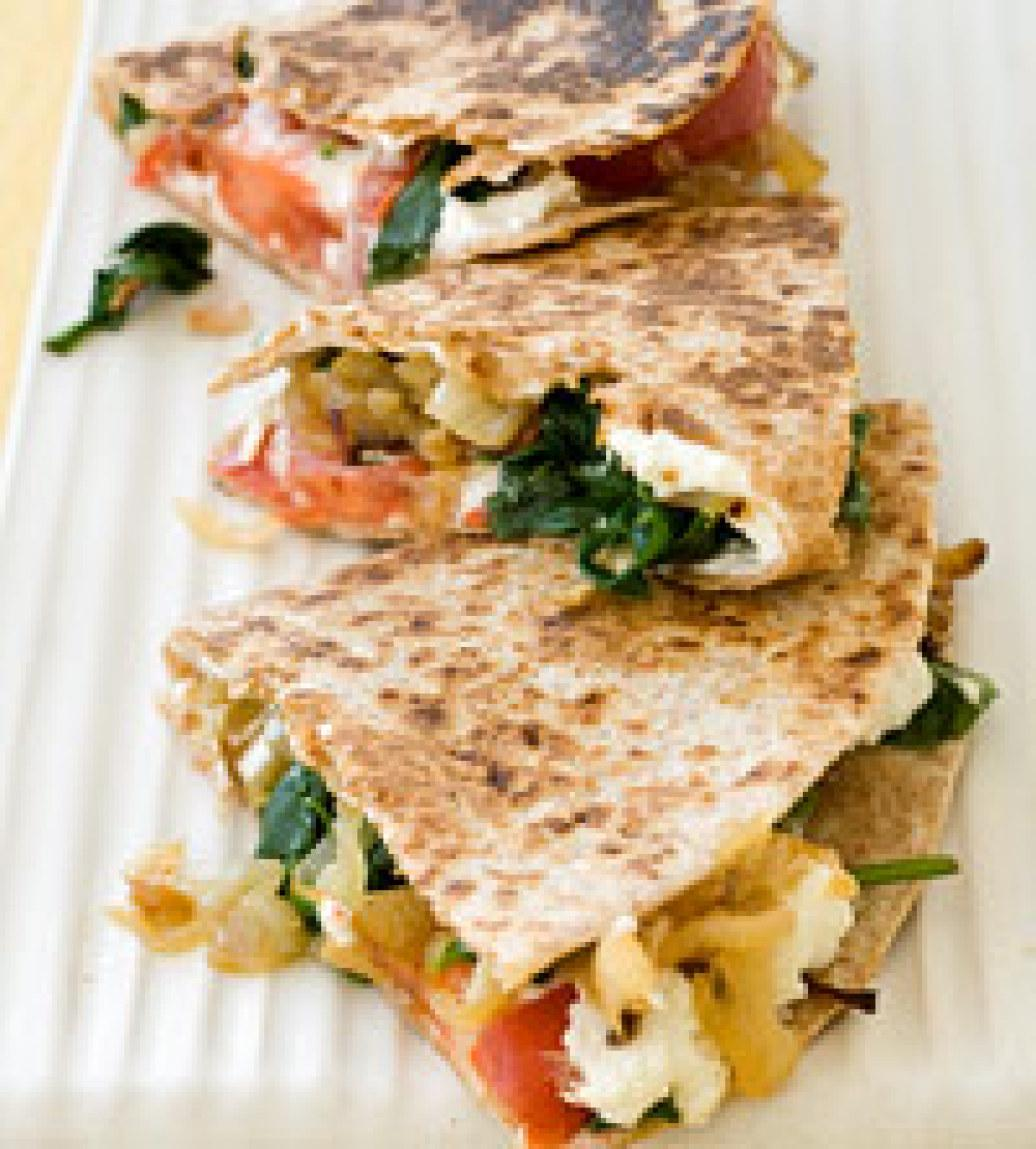 Spinach And Goat Cheese Open-Faced Quesadilla Recipes — Dishmaps