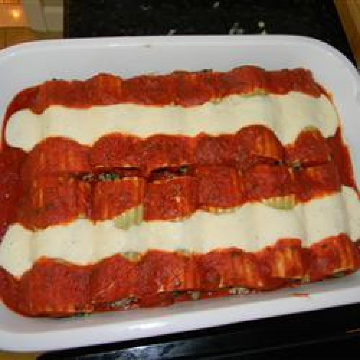 Italian Baked Cannelloni Recipe | Just A Pinch Recipes