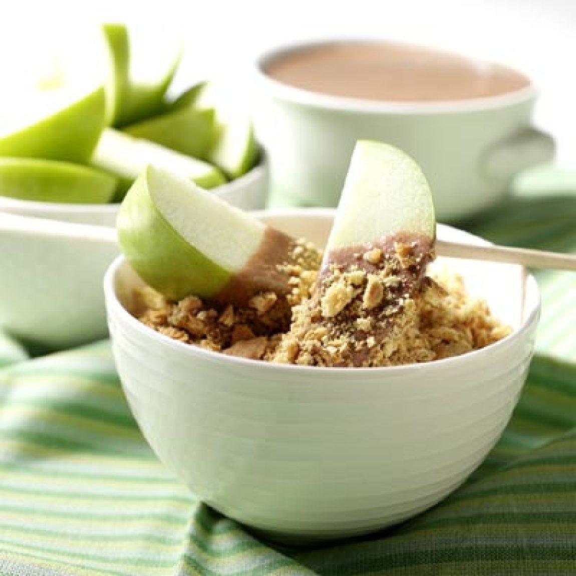 Chocolate-Peanut Butter S'mores Fondue Recipe | Just A Pinch Recipes