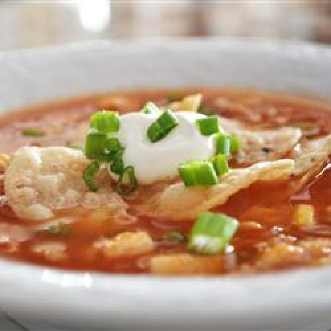 Chicken tortilla soup v recipe just a pinch recipes for Easy tasty soup recipes
