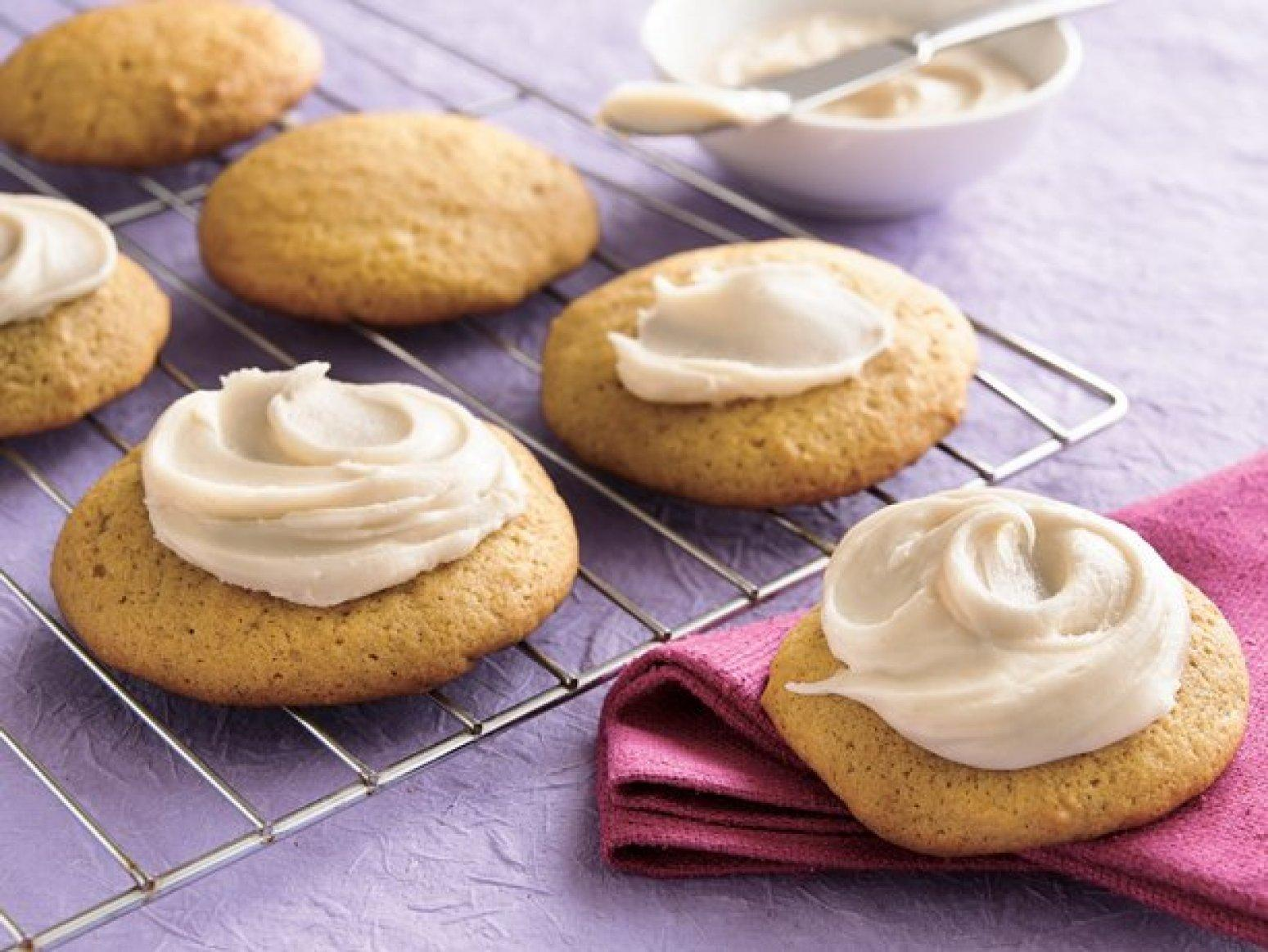 Pumpkin Cookies with Browned Butter Frosting Recipe 2 | Just A Pinch ...