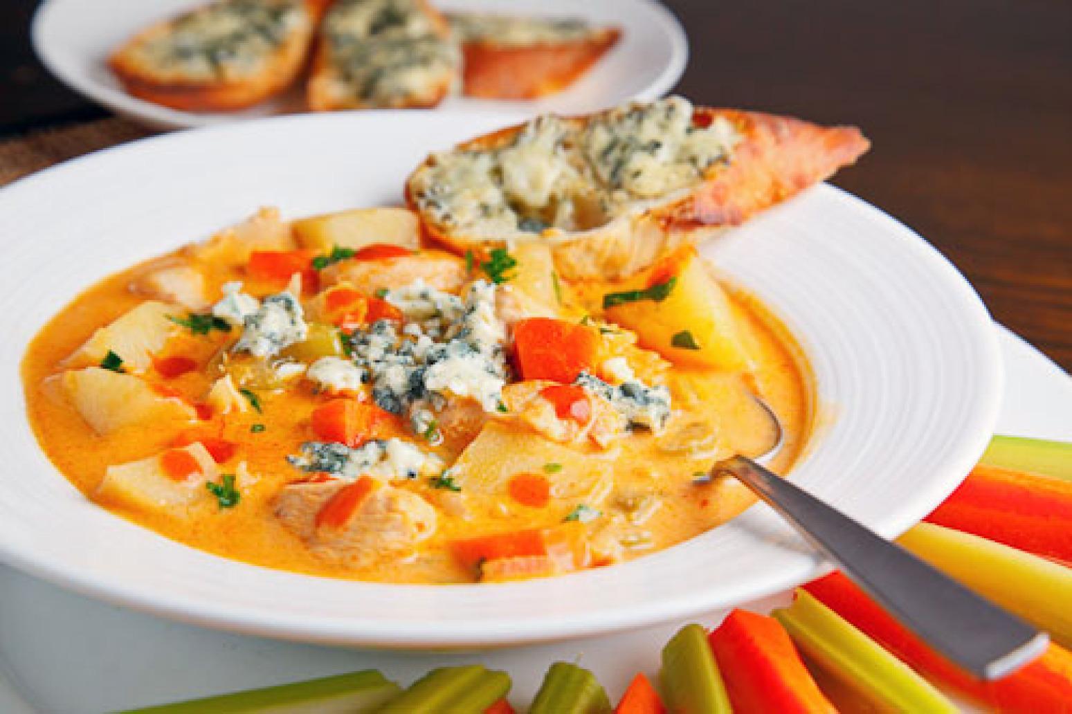 Buffalo Chicken Chowder Recipe | Just A Pinch Recipes
