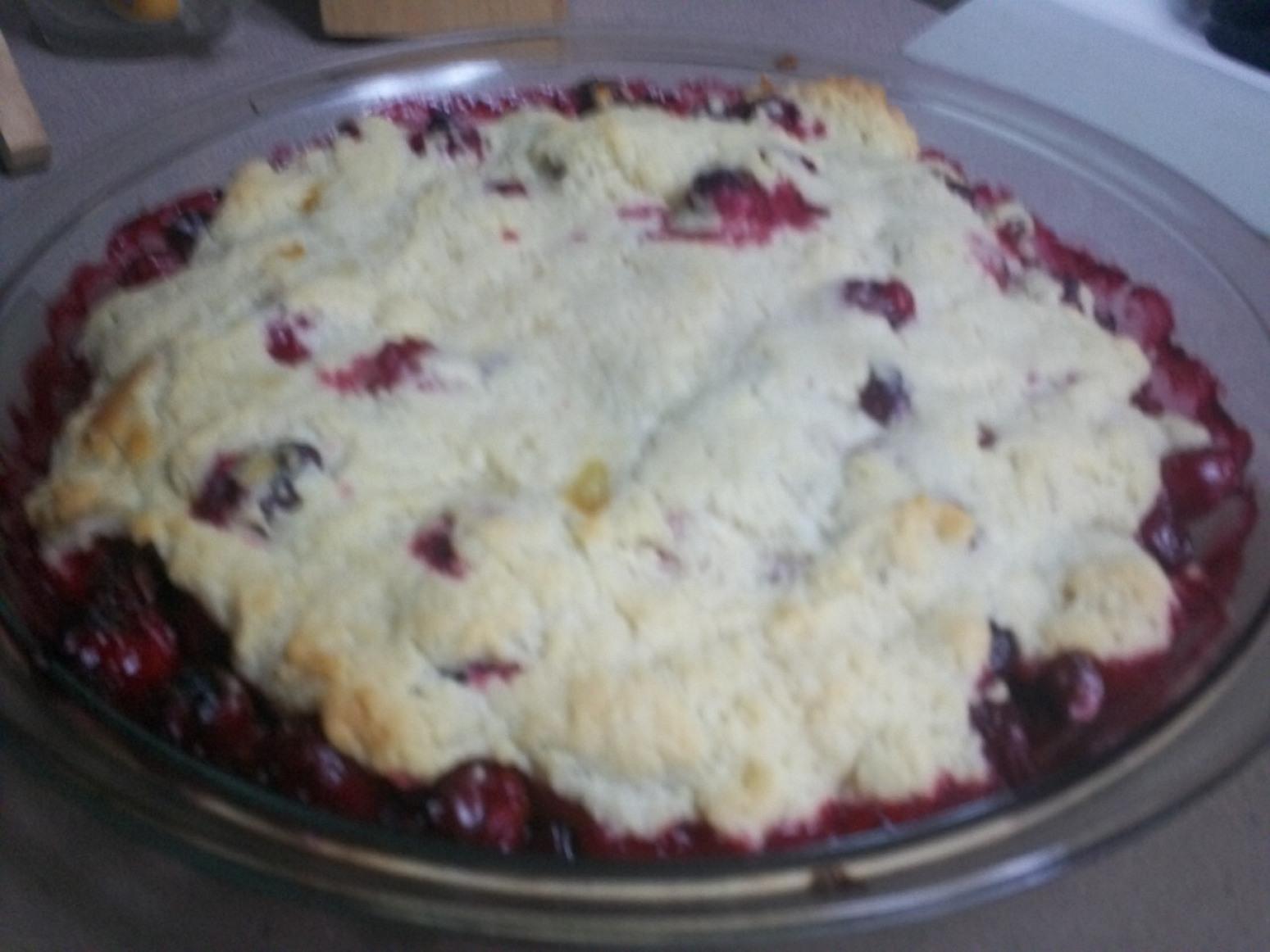 Holiday Cranberry Cobbler Tart Recipe