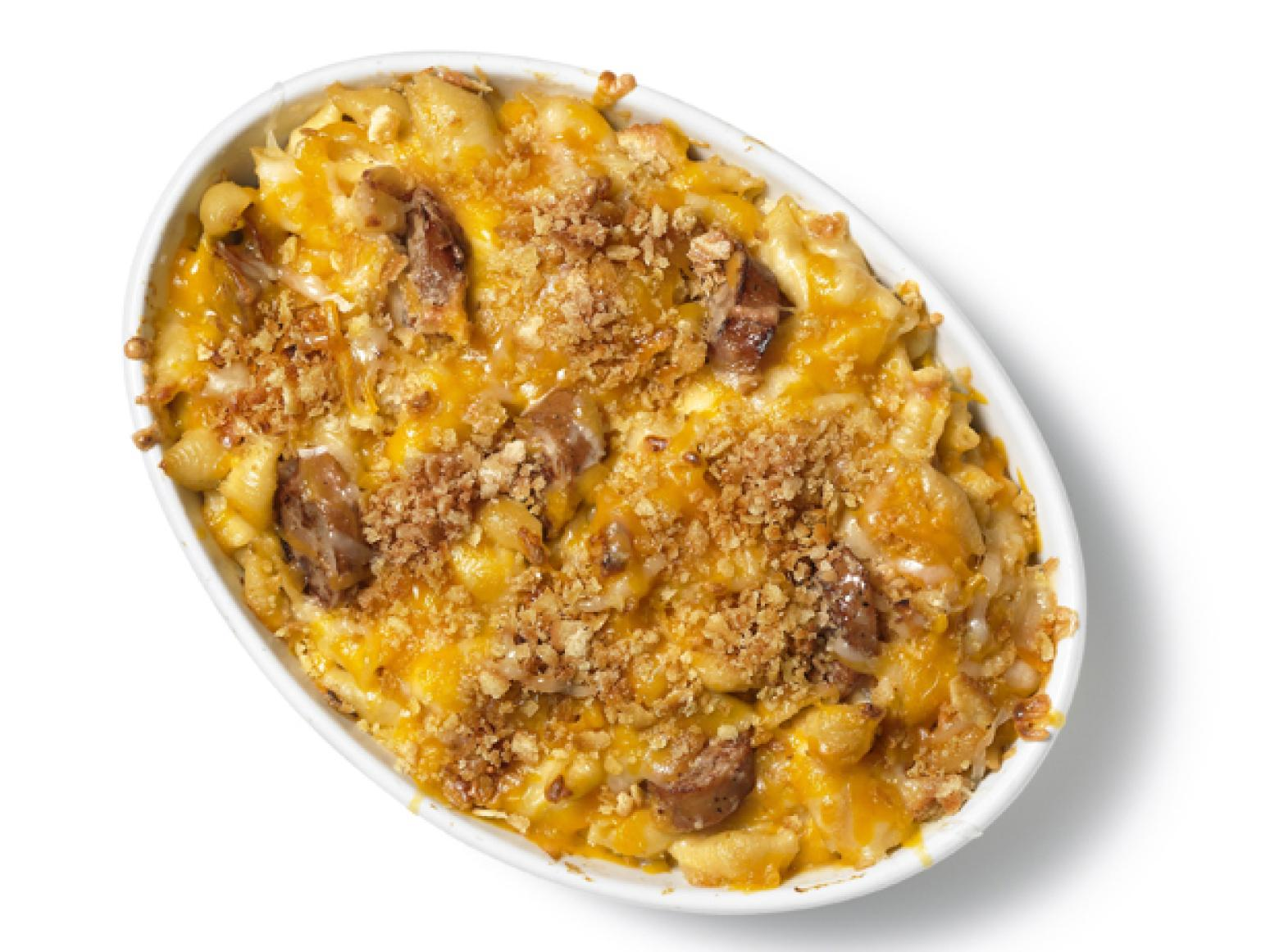 Apple-Sausage Mac and Cheese Recipe | Just A Pinch Recipes