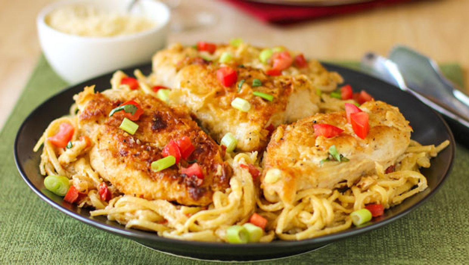 Chicken Vino Bianco Recipe Just A Pinch Recipes