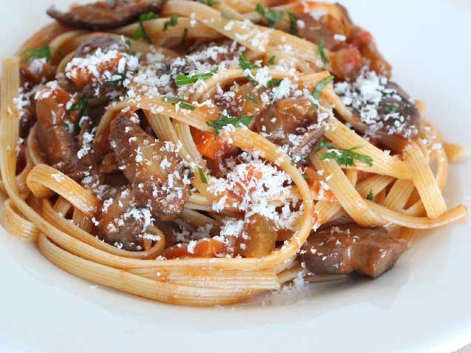 Mushroom Bolognese with Fettuccini Recipe | Just A Pinch Recipes