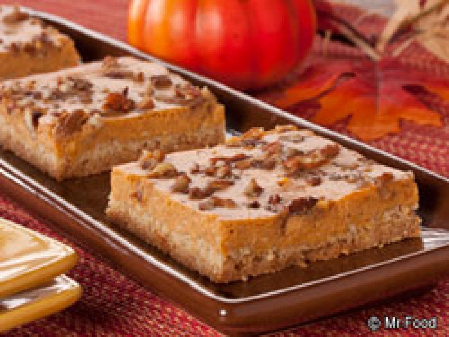 Pumpkin Cheesecake Squares Recipe 2 | Just A Pinch Recipes