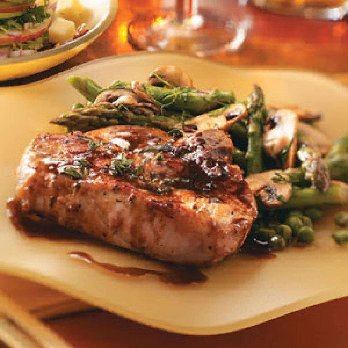 Jiffy Ground Pork Skillet Recipe: Maple Pork Chops Recipe