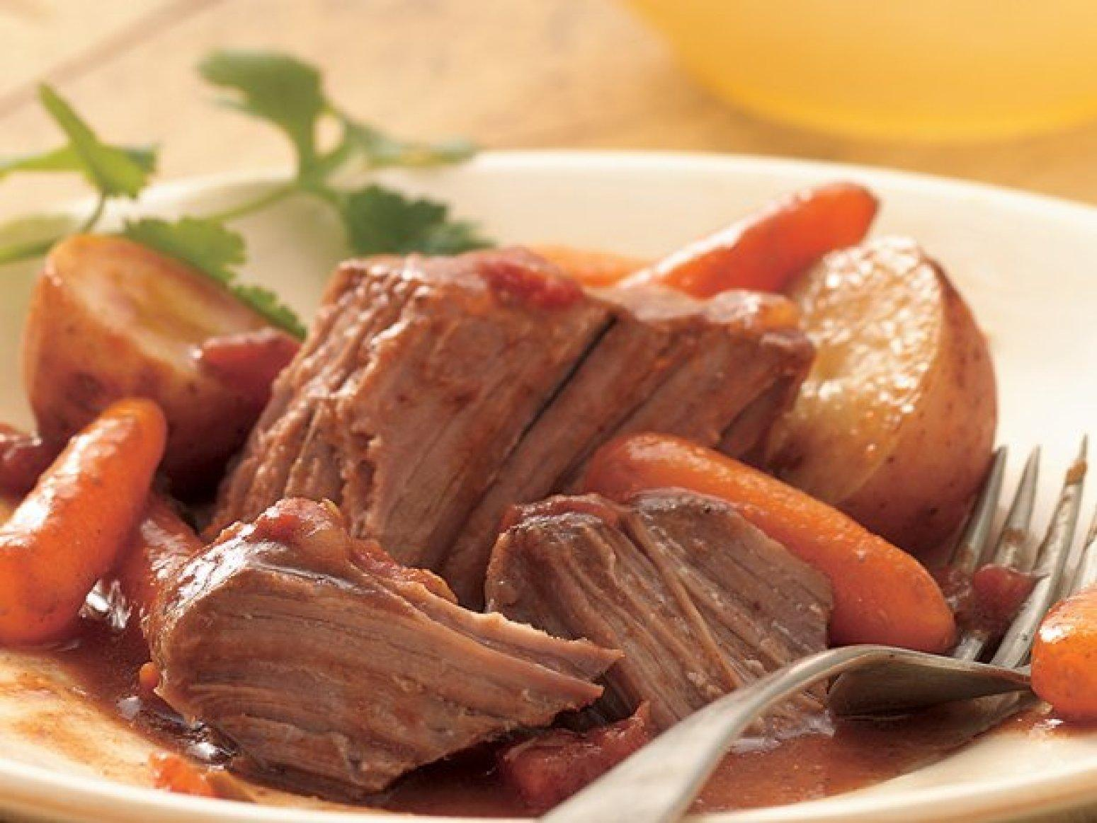 Slow Cooker Southwestern Pot Roast Recipe | Just A Pinch Recipes
