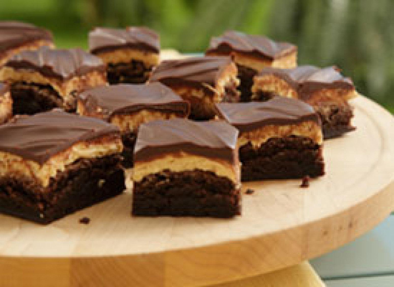Peanut Butter Truffle Brownies Recipe 3 | Just A Pinch Recipes