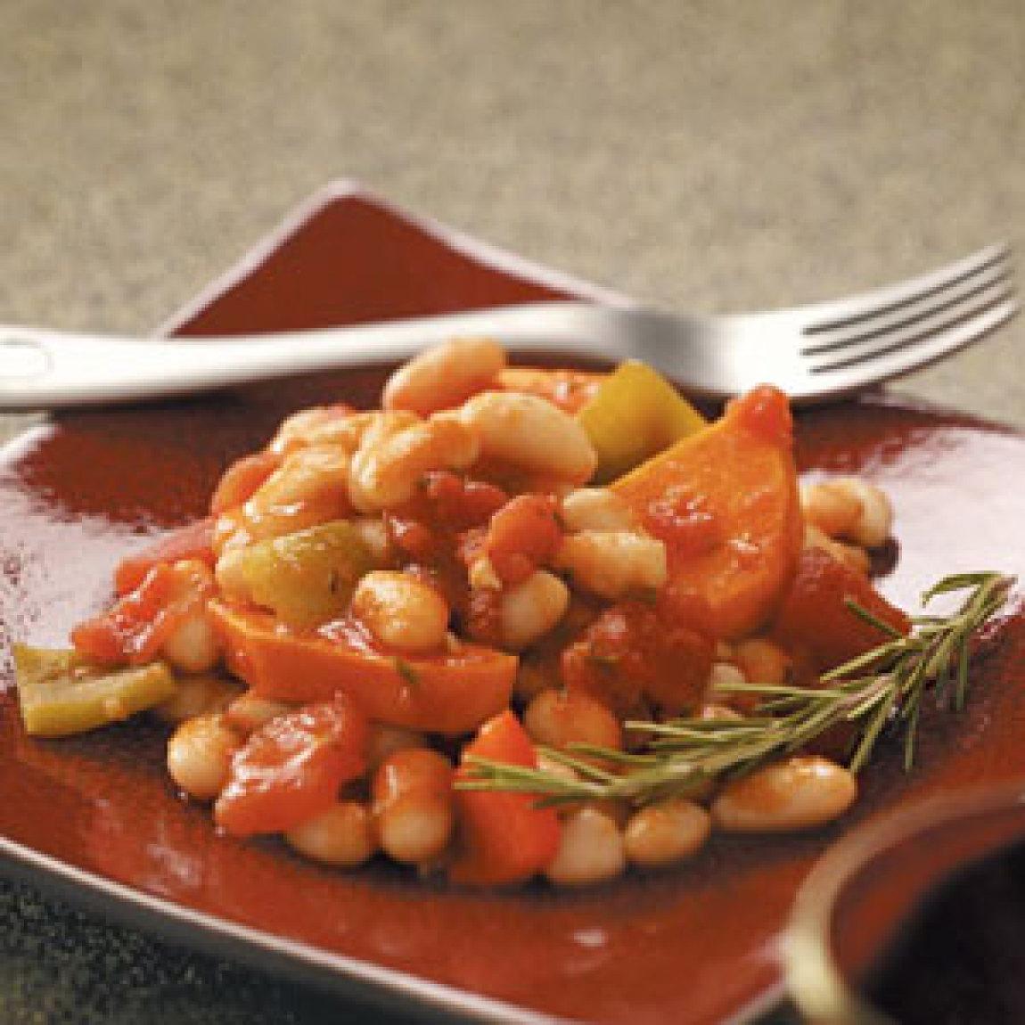 White Bean, Sweet Potato & Pepper Ragout Recipe | Just A ...