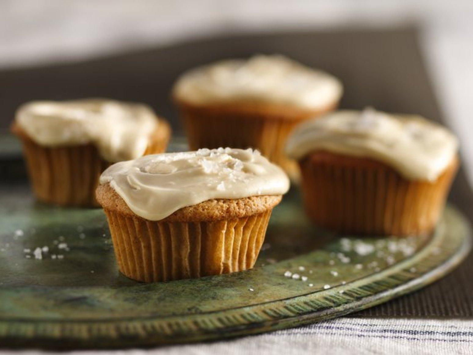 Spiced Apple Cupcakes with Salted Caramel Frosting Recipe | Just A ...