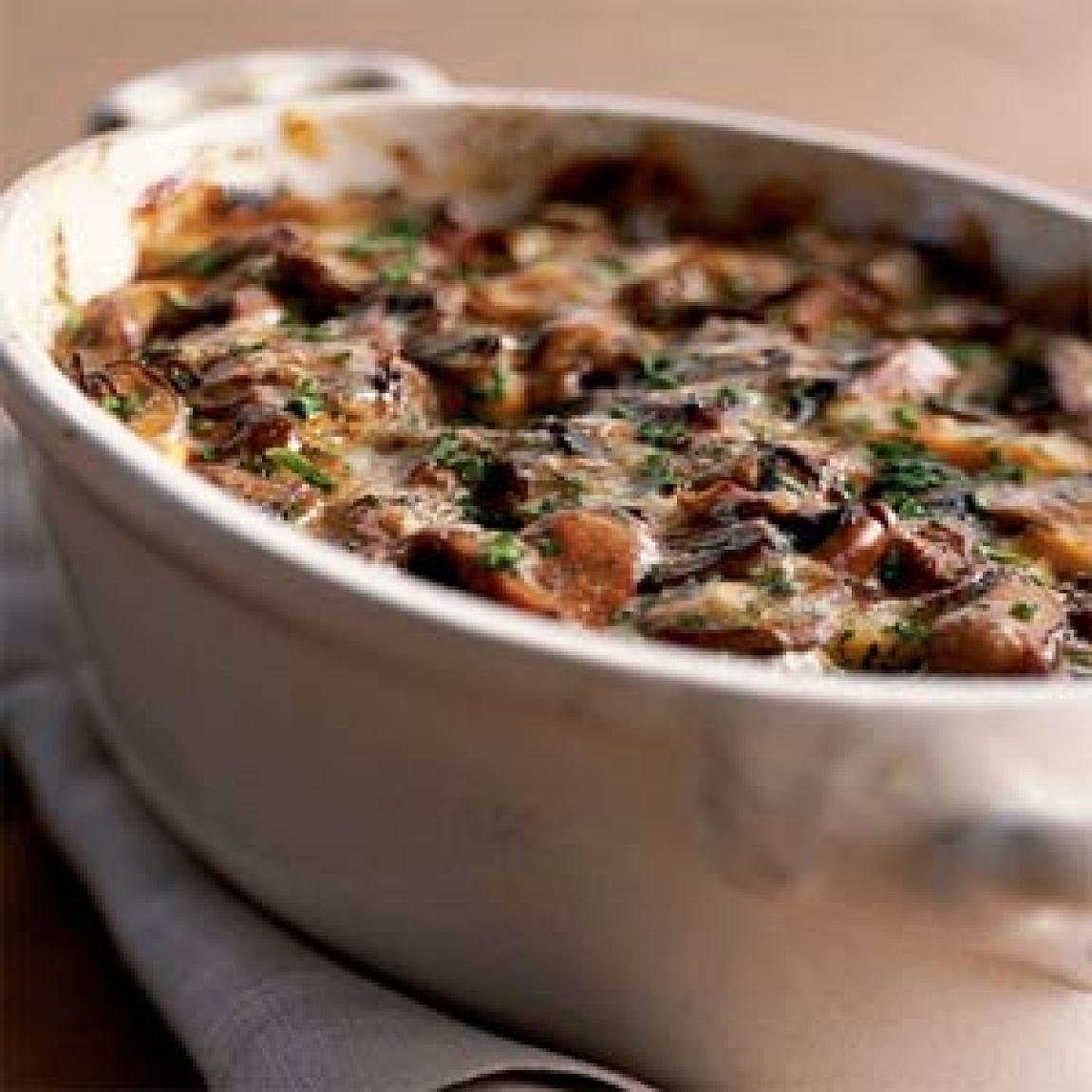 Wild MushroomandSweet Potato Gratin Recipe | Just A Pinch Recipes