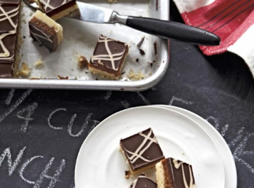Espresso Caramel Squares with White & Dark Chocolate Swirl Recipe ...