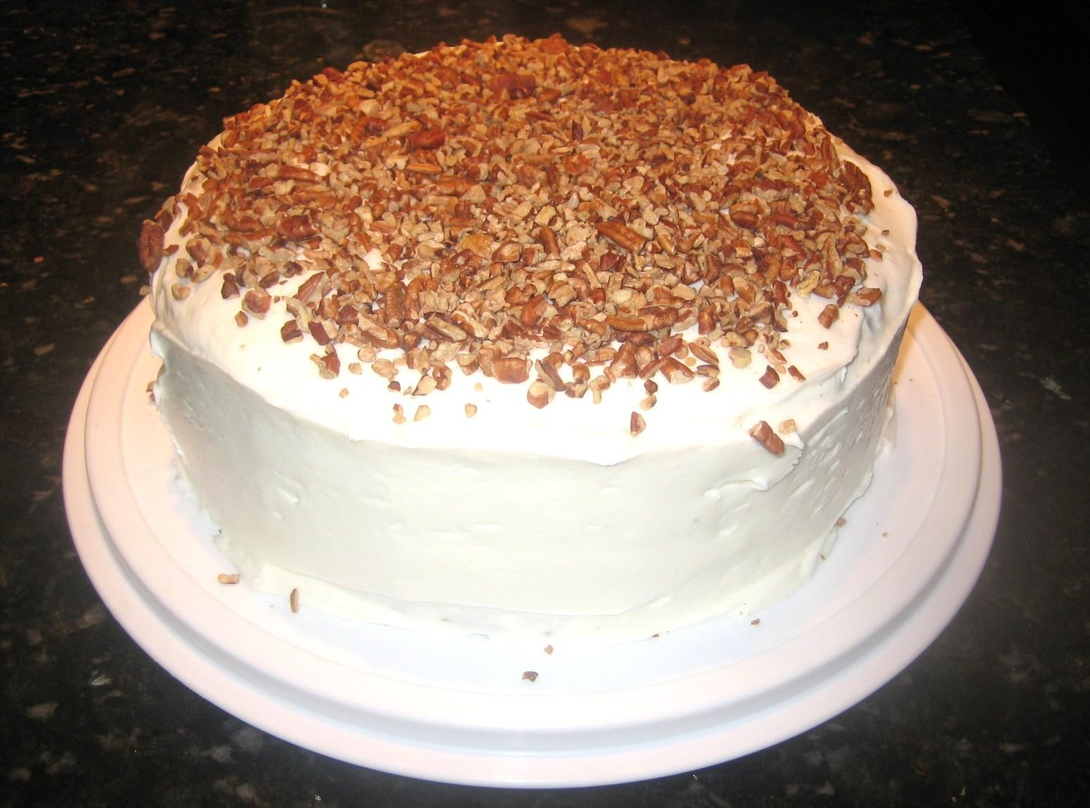 Carrot Cake W/ Pecan Filling & Cream Cheese Icing Recipe | Just A ...