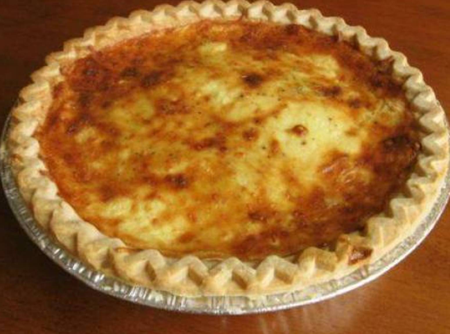 An Excuse for Cheese and Bacon Quiche Recipe | Just A Pinch Recipes