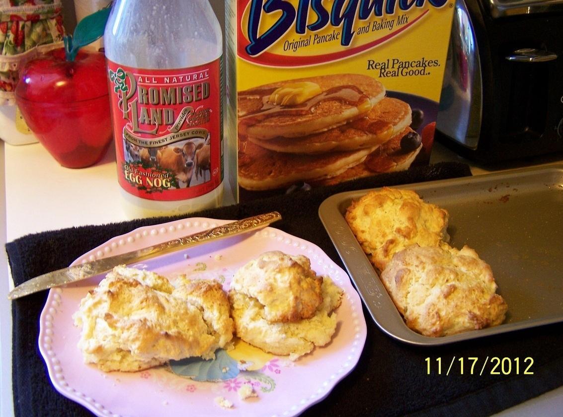 Egg Nog-Bisquick Biscuits...by Cin Recipe